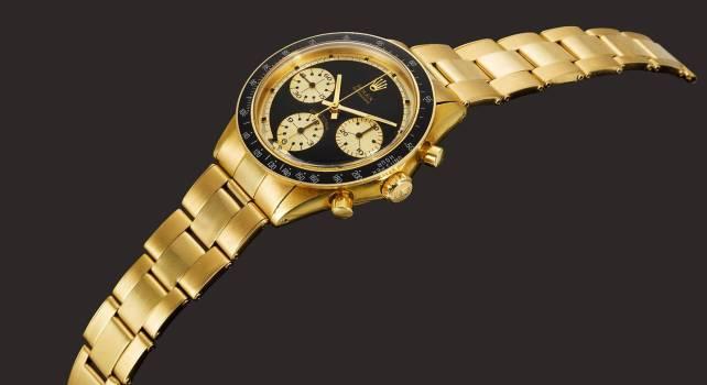 Sotheby's : Record de vente pour la Rolex Daytona 6264 Gold 18 carats