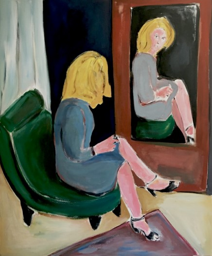 Vassilis H. Mirror, 2020 Acrylic on canvas 120 x 100 cm