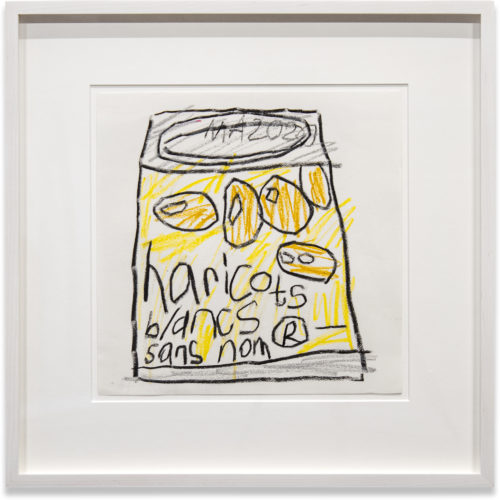 Al Freeman Untitled 2020 Oil stick on paper 25,4 x 25,4 cm Framed: 39,4 x 39,4 cm