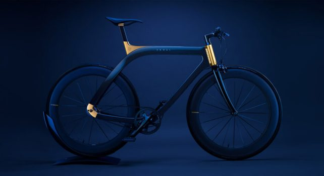Extans «Akhal Sheen» : Le vélo de prestige en fibre de carbone et or 24 carats
