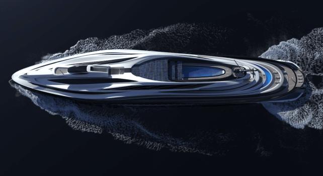 Lazzarini «Avanguardia» : Un superyacht de 137 mètres de long en forme de cygne
