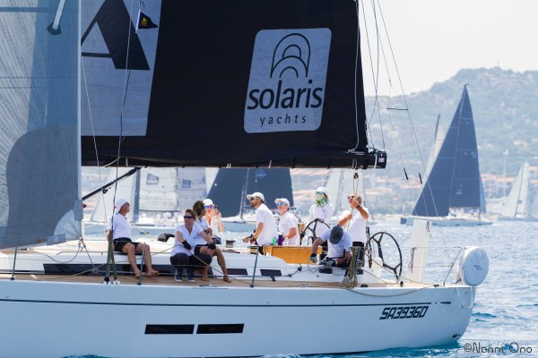 Wong skippering the Solaris One 44 GioiA in the 2018 Solaris Cup in Italy