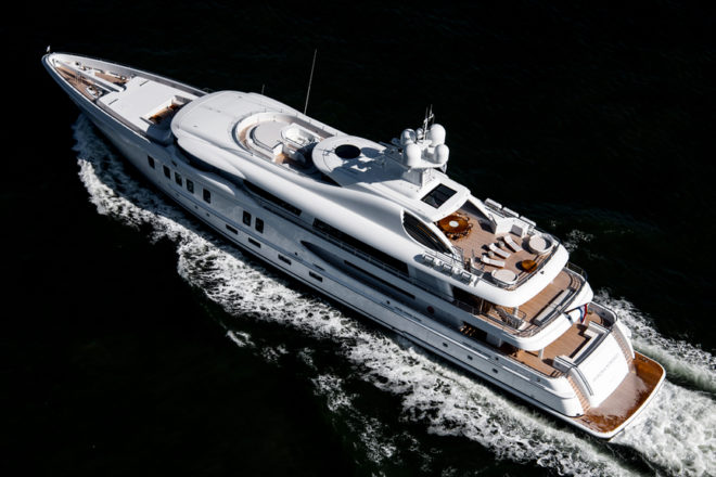 the 67m Aurora Borealis is the first Amels 220 from the Dutch yard