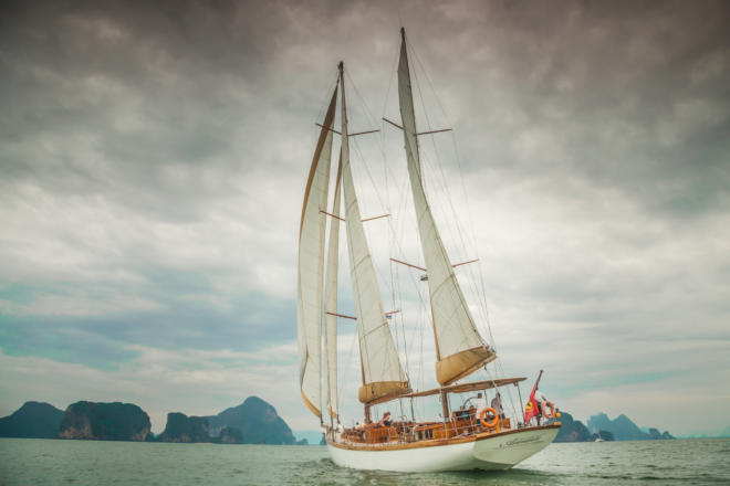 Asia Marine's charter sailing yachts include the stunning Aventure, a 29m (95ft) wooden ketch built in Indonesia in 2011, available for overnight charters