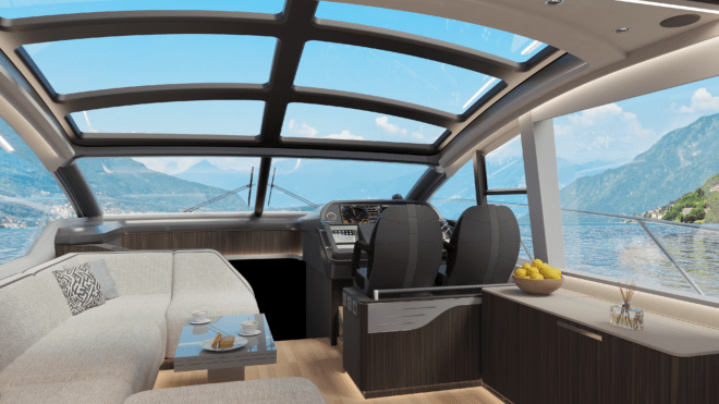 The Predator 60 Evo shares the hull of the 57, but has a new superstructure and sunroof, and fresh interior styling