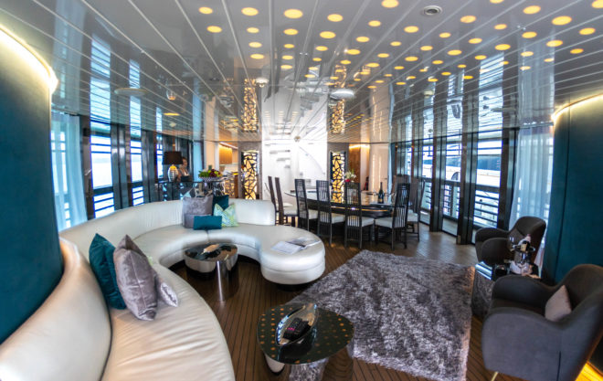 The new-look saloon on the 135ft Ocean Emerald, Thailand