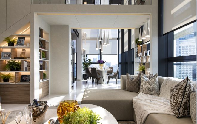 South Beach Residences: The seamless flow of the living area to dining space