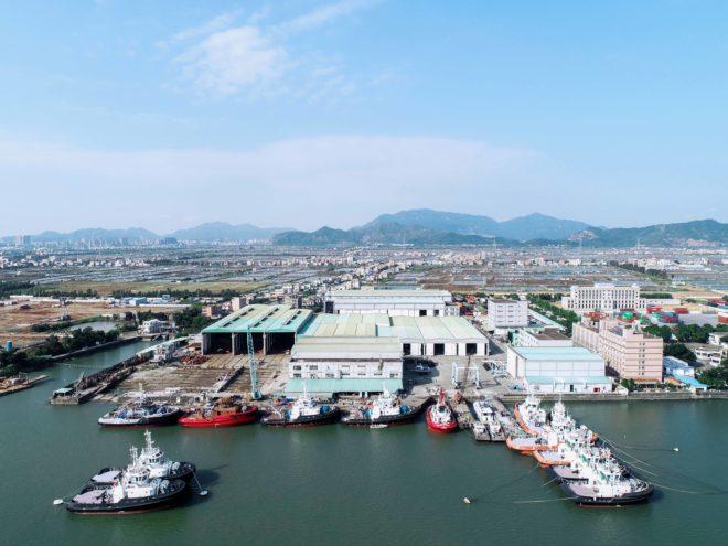 The Cheoy Lee/CL Yachts shipyard in Doumen, near Hong Kong