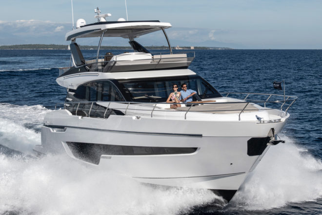 Fairline Squadron 68 (above) and Sunseeker Predator 60 Evo (below)