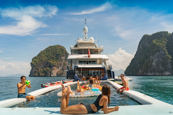 The 129ft Heesen Lady Azul is enjoying a fresh lease of life as one of Southeast Asia's most fun and adventurous charter yachts