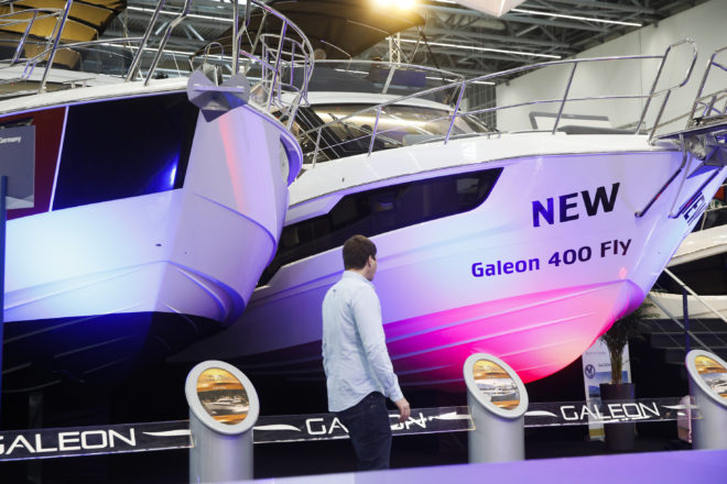 The Galeon 400 Fly world premiere was held at Boot Dusseldorf this year