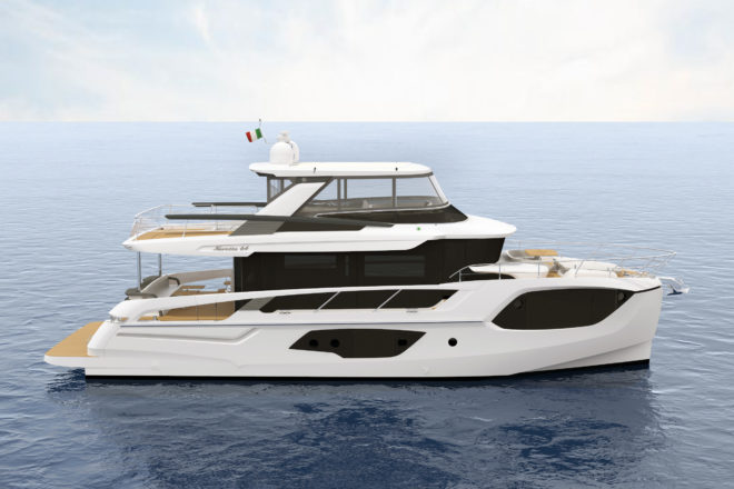 The Absolute Navetta 64 could appear at this year's Cannes Yachting Festival