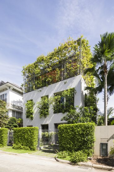Facade of Stepping Park House by VTN Architects, Vietnam