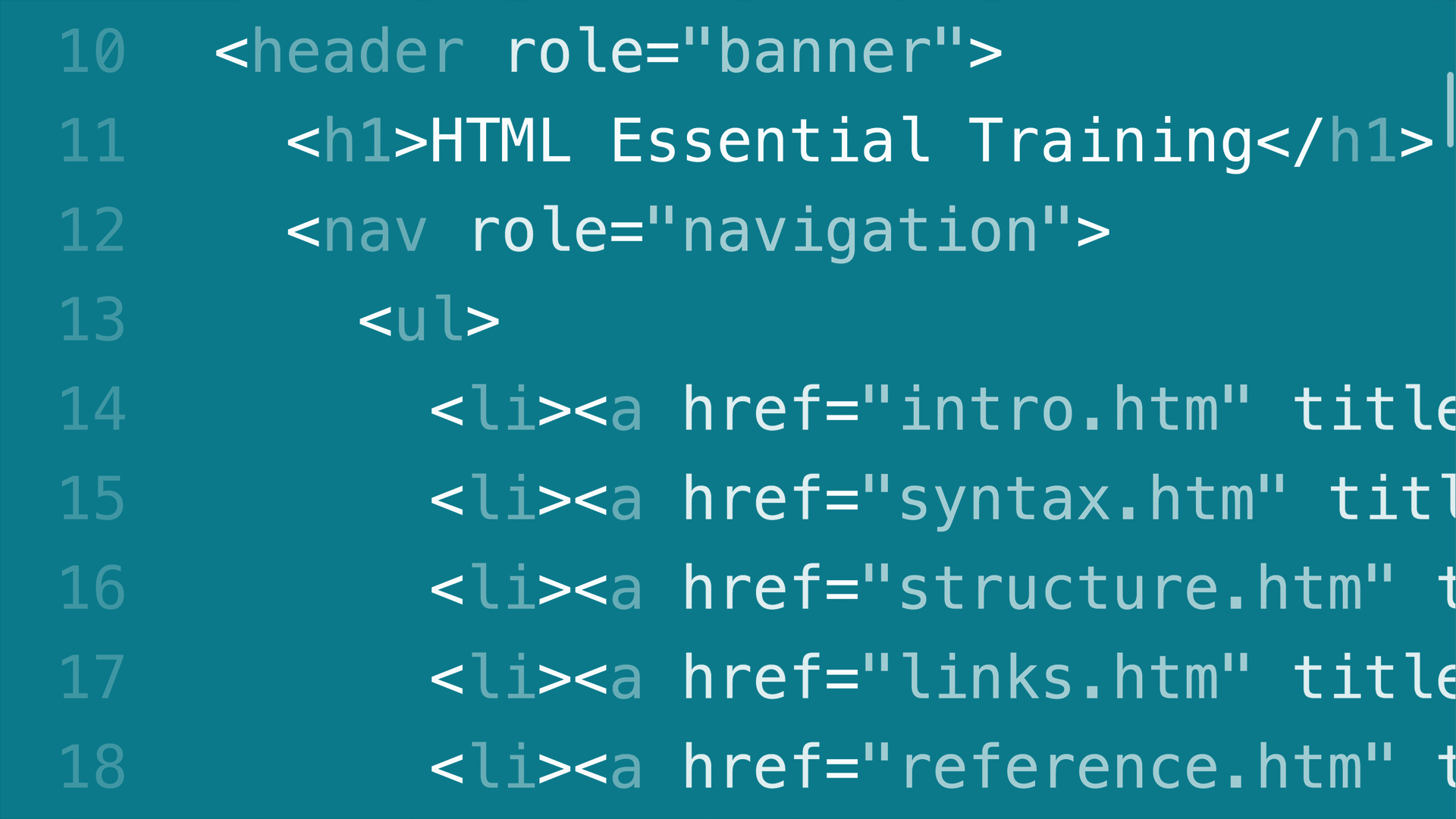 HTML Essential Training