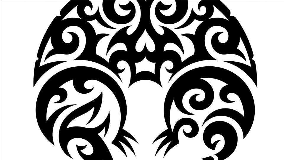 drawing vector graphics tribal