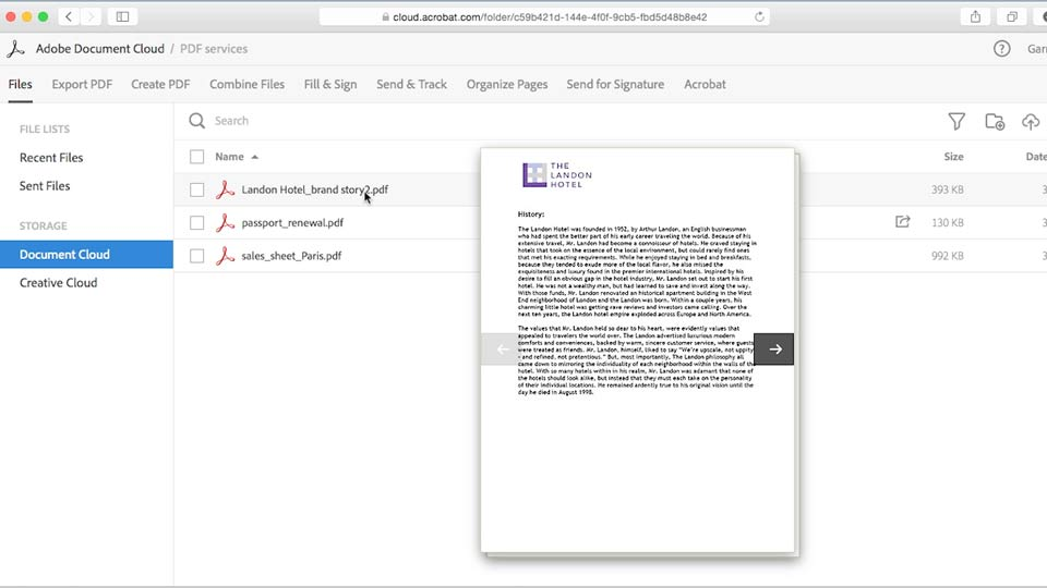 Adobe Document Cloud First Look