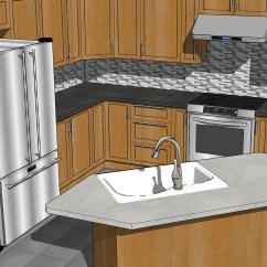Kitchen Visualization Tool Mission Style Table Sketchup Design