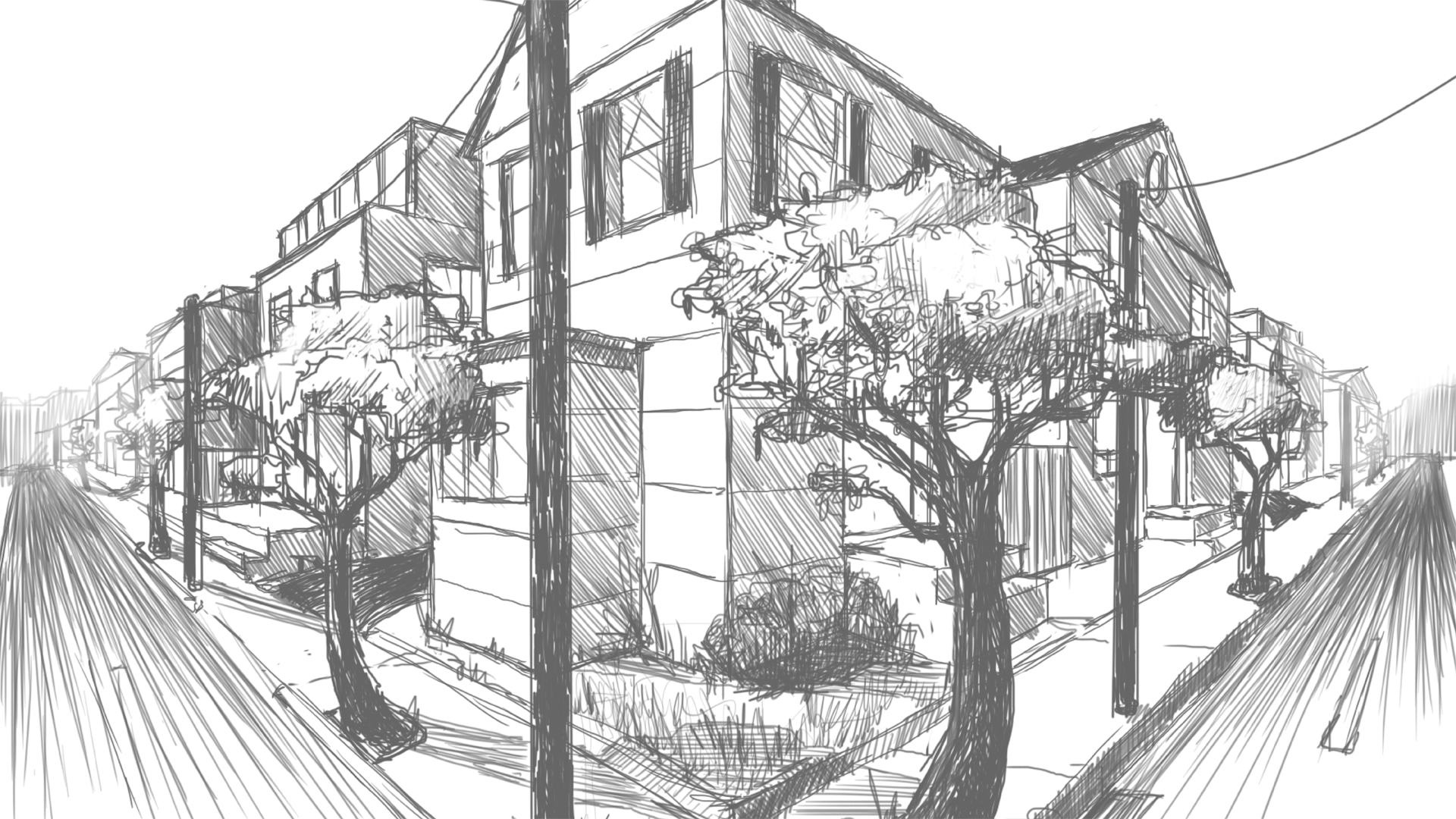 drawing 2 point perspective