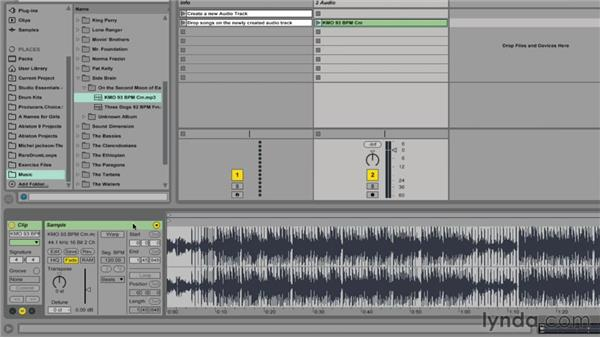 Importing songs into Ableton Live