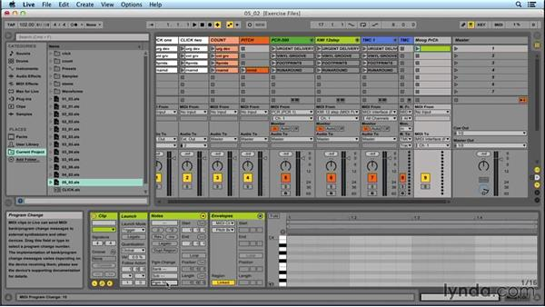 Changing external instrument presets