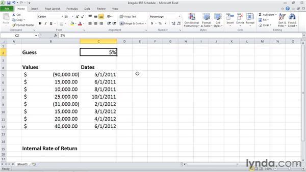 XIRR: Calculating internal rate of return for irregular