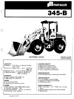 Loaders Fiatallis Specifications Machine.Market