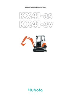 Compact-Mini Kubota KX41-3V Specifications Machine.Market