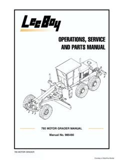 LeeBoy Specifications Machine.Market