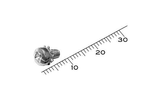 922-2739 Screw, Sems, Pan, Phillips, M3x0.5x5, Pkg.of 25