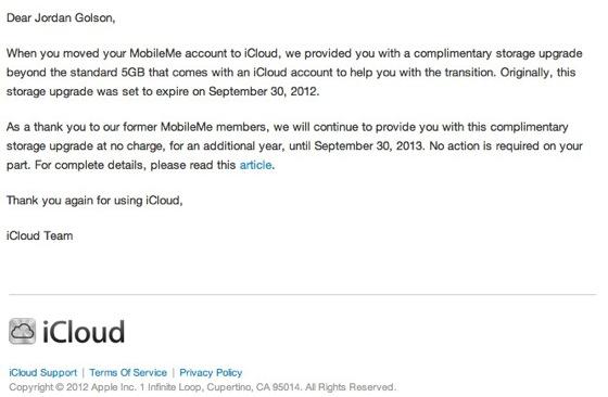Ricevuti iCloud 201 messaggi
