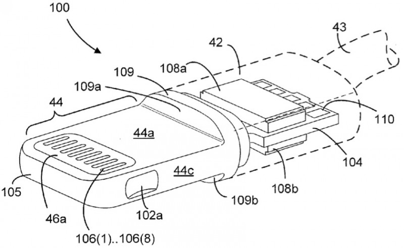 headphone wire diagram home wiring diagrams switch loop apple's lightning connector detailed in newly-published patent applications - macrumors