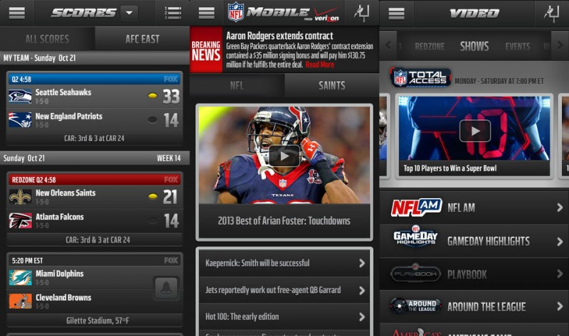 NFL Updates iOS App with Visual Redesign Live Streaming Options Still Limited  MacRumors