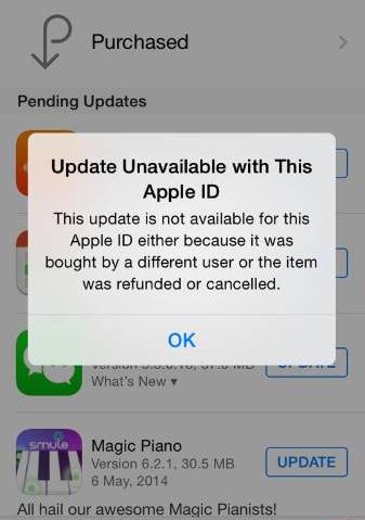app-aggiornamenti-fail
