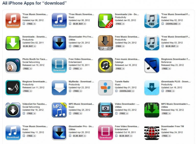 Apple Removing Music Downloading Apps From App Store