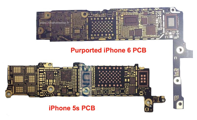 Bare iPhone 6 Logic Board Surfaces, Claimed to Support NFC and 80211ac WiFi  Mac Rumors