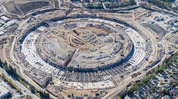 La costruzione alla città universitaria 2 di Apple progredisce, lavoro sulla struttura ha cominciato