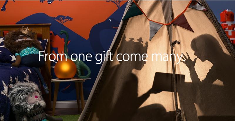 Apple invia con la posta elettronica la campagna e le idee online del regalo di festa di punto culminante dellaggiornamento del deposito