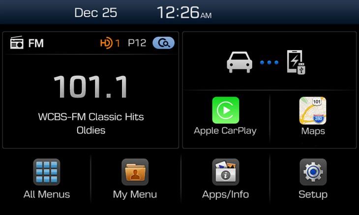 Apple CarPlay integration on Hyundai's new Display Audio system