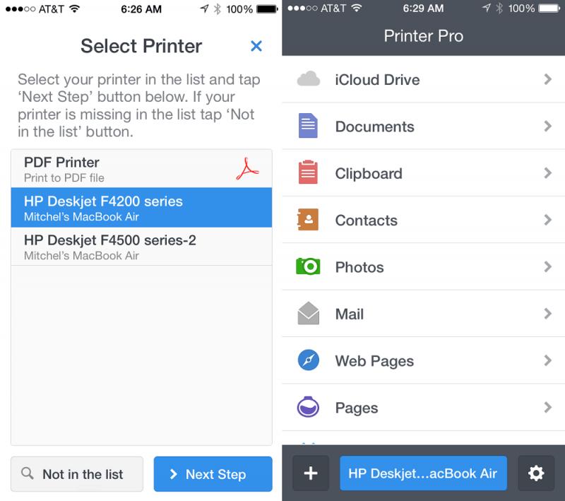 mobile printing app printer
