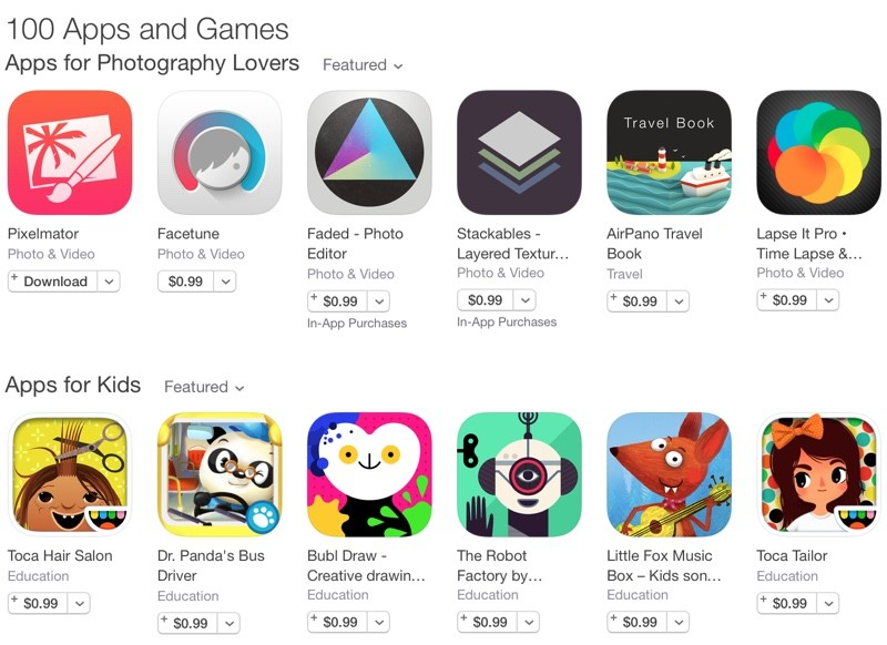 App Store Promotion Offers 100 Apps And Games At A