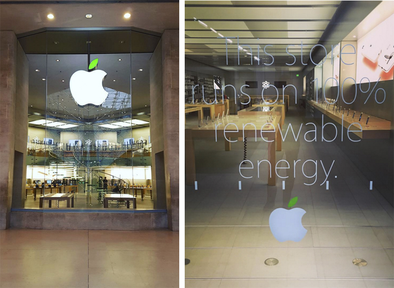Apple Stores Celebrate Earth Day With Green Logos And