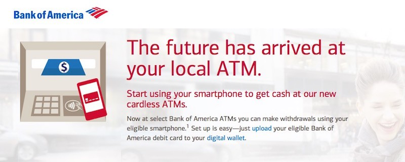 Bank of America Starts Offering ATM Withdrawals Using