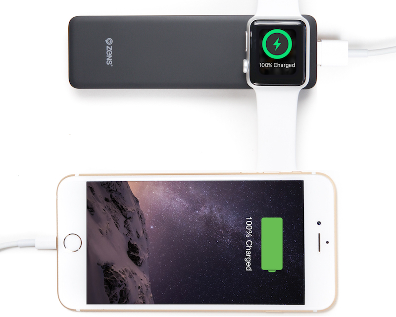 Zens Launches Power Bank Simultaneous Apple Watch And