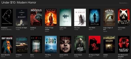iTunes Celebrates Halloween With Horror Movie Sale of $5 Classics