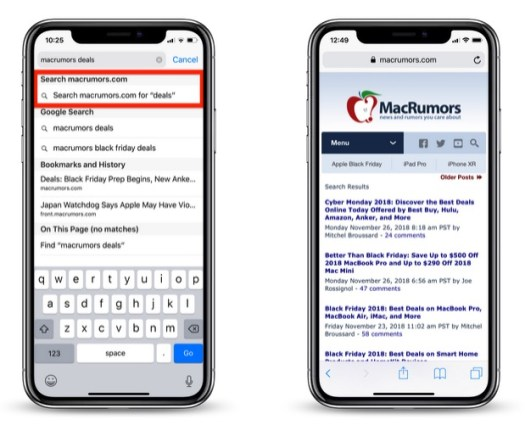 How to Perform a Quick Website Search in Safari