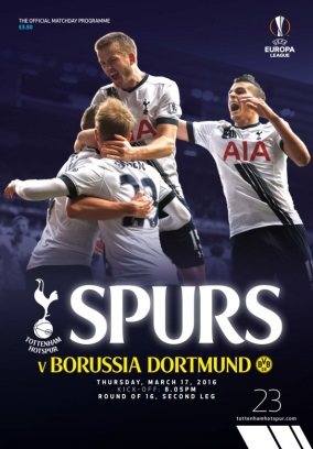 Tottenham Hotspur Publications Magazine Spurs v Dortmund