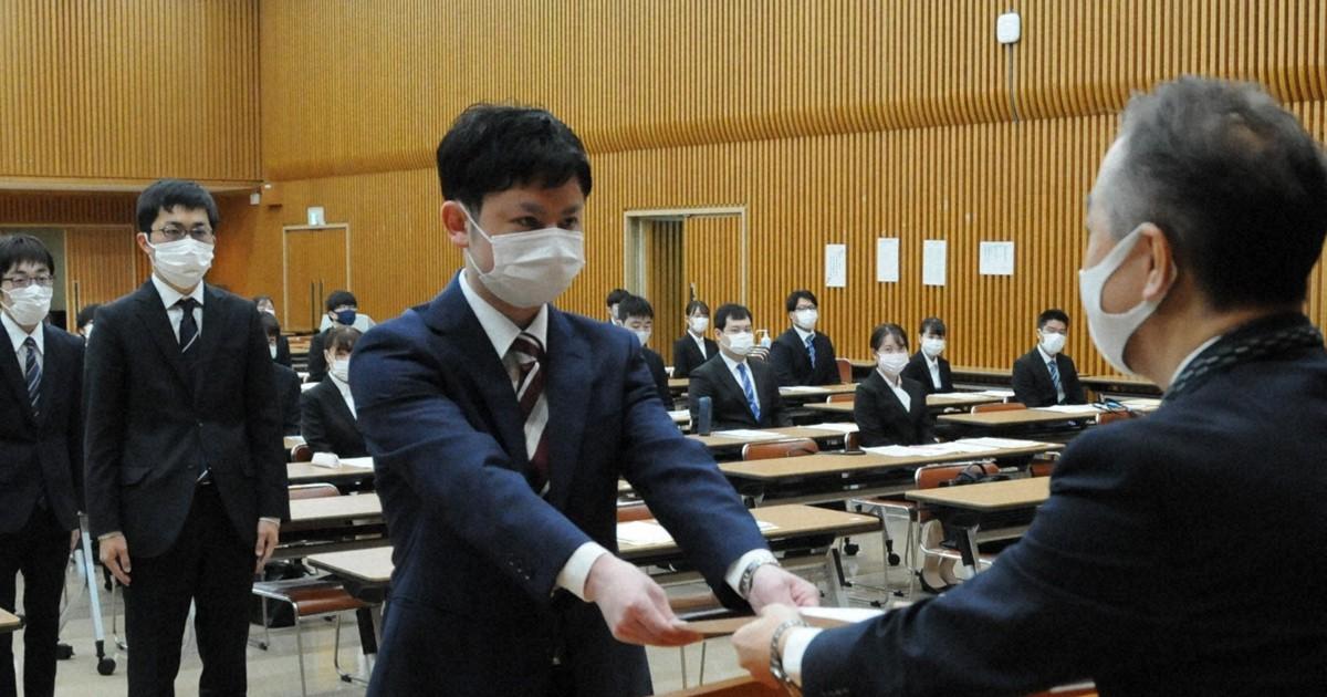 新年度スタート 入社式や入學式、感染防止にあの手この手 福岡   毎日新聞
