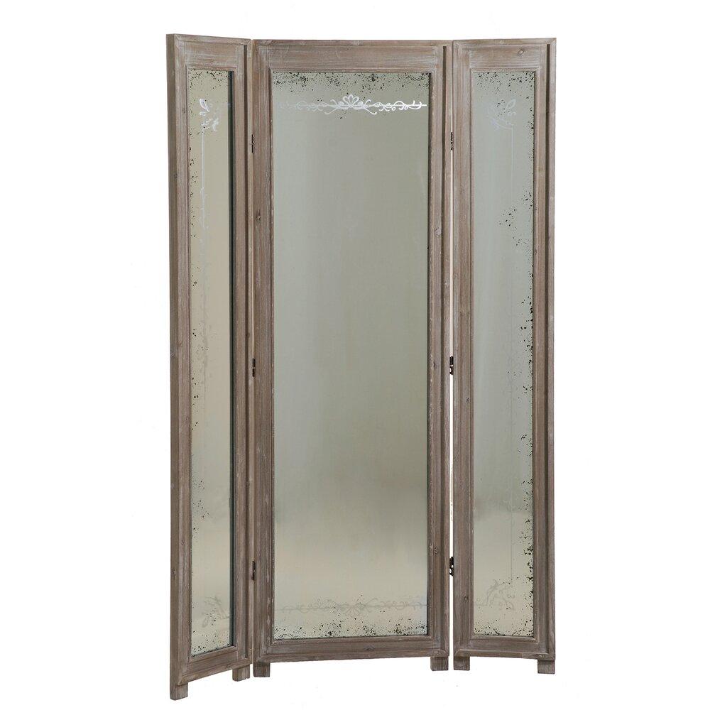 miroir paravent 3 volets