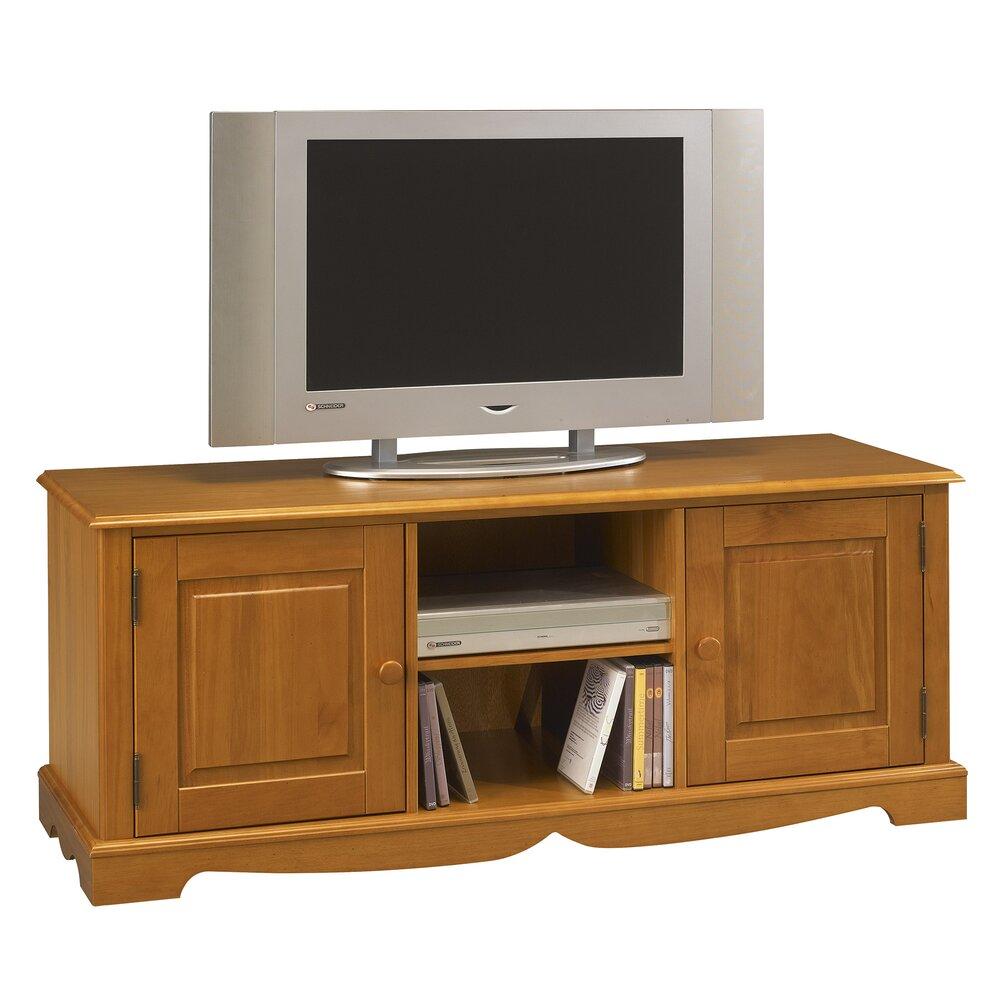 meuble tv 2 portes de style anglais en pin miel authentic pin miel
