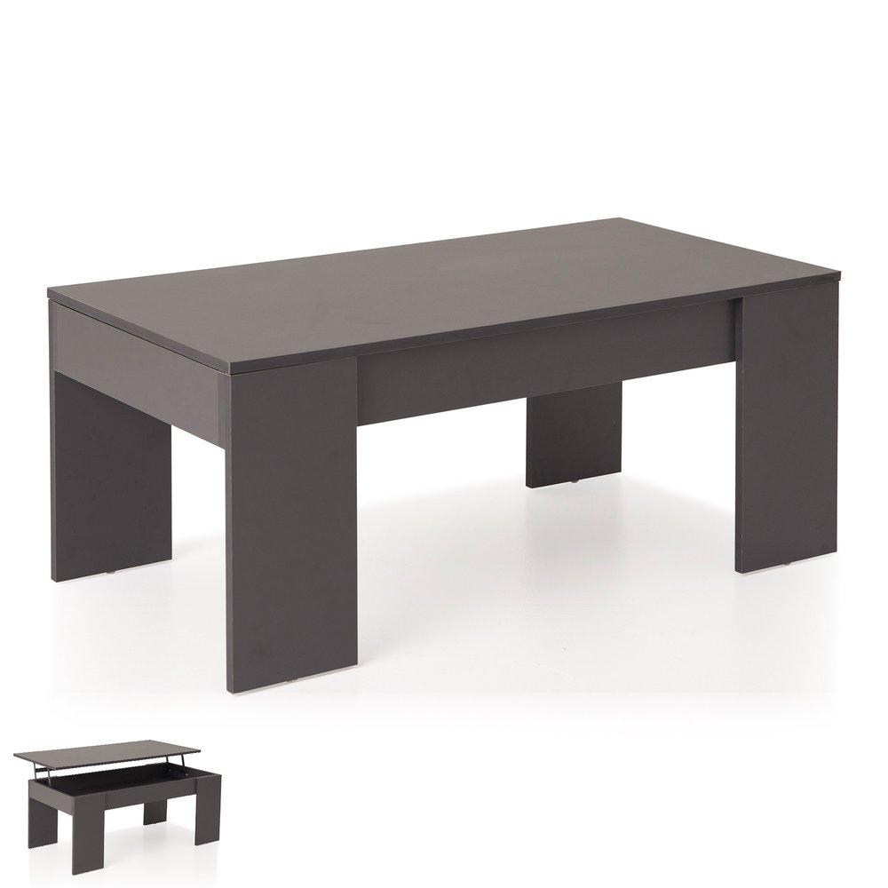 table basse relevable gris evoplus